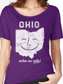Ohio Makes Me Smile! Cool Vintage Retro Tee Women's Relaxed Fit T-Shirt