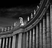 Saints Over Saint Peters Square Rome by Darren Burroughs
