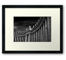 Saints Over Saint Peters Square Rome Framed Print