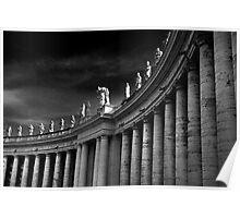 Saints Over Saint Peters Square Rome Poster