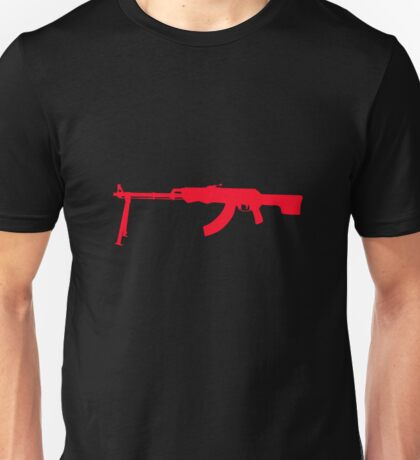 AK-47 with Tripod Unisex T-Shirt