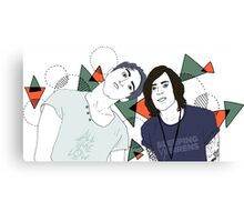 Back To The Future Hearts with Alex and Kellin Canvas Print