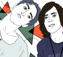 Back To The Future Hearts with Alex and Kellin Sticker