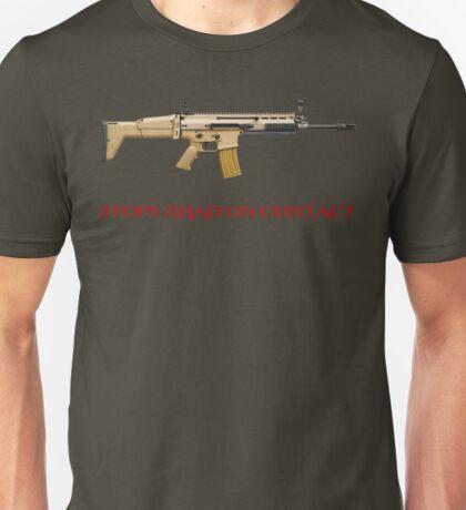 Stops Jihad on Contact Unisex T-Shirt