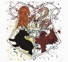 Hogwarts Splatter Crest One Piece - Short Sleeve