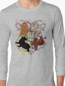 Hogwarts Splatter Crest Long Sleeve T-Shirt