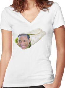 Fetty Wrap Women's Fitted V-Neck T-Shirt