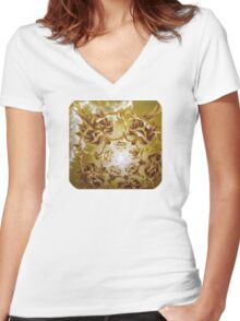 Energize, Surreal Nature Women's Fitted V-Neck T-Shirt