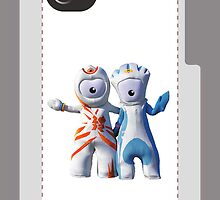 Wenlock and Mandeville iPhone Case by Lea Valley Photographic