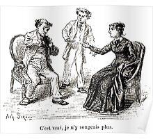 Achille Sirouy Mark Twain Les Aventures de Huck Huckleberry Finn illustration p274 Poster