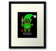 SAVAGE SANTAS LITTLE HELPER Framed Print