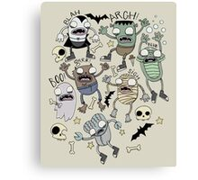Monster Mash!!! Canvas Print