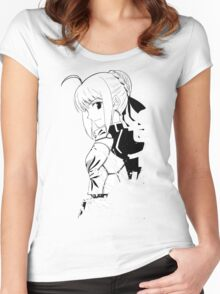 Fate/Stay night & Fate/Zero - SABER Women's Fitted Scoop T-Shirt