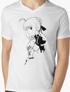 Fate/Stay night & Fate/Zero - SABER Mens V-Neck T-Shirt