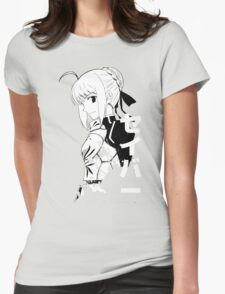 Fate/Stay night & Fate/Zero - SABER Womens Fitted T-Shirt