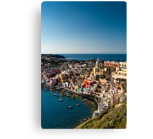 Corricella from above Canvas Print