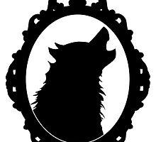 Halloween Art, Black Wolf Silhouette, Edgar Allan Poe, Wolfman, Werewolf, Horror by TrueNoire