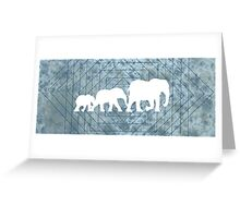 Walking With Elephants Greeting Card