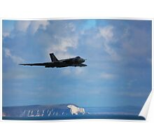 Vulcan Avro XH558 with Needles, Isle of Wight Poster