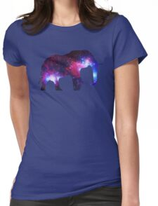 Galaxy Elephant Womens Fitted T-Shirt