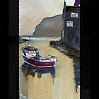 Staithes iphone cover by Sue Nichol