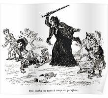 Achille Sirouy Mark Twain Les Aventures de Huck Huckleberry Finn illustration p024 Poster