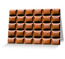 Chocolate Bar Overhead Greeting Card