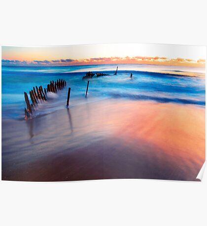 Dicky Beach Sunrise Poster