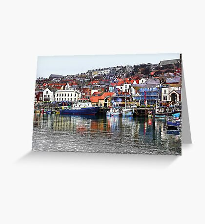 Scarborough Harbour Greeting Card