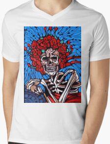 Roses & Ribbon Mens V-Neck T-Shirt