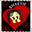 Sweetie With Diamonds iPhone by judygal