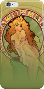 Peach Nouveau (realistic) IPHONE CASE by MeganLara