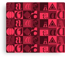 "I'm ""A"" Pattern two (red) Canvas Print"