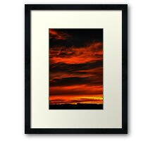 Burning sky Framed Print