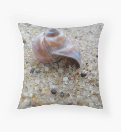 Nantucket Snail Shell Throw Pillow