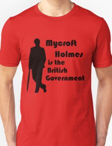 Mycroft Holmes, British Government (Black) T-Shirt