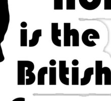 Mycroft Holmes, British Government (Black) Sticker