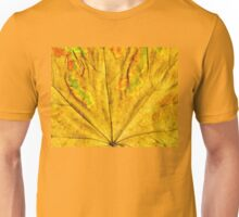 Detailed Fall Maple Leaf Texture 5 Unisex T-Shirt