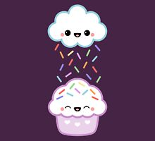 Cloud Peeing on Cupcake Womens Fitted T-Shirt