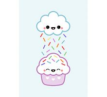 Cloud Peeing on Cupcake Photographic Print