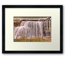 At the waters edge - Almonte, Ontario Framed Print