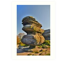 Yorkshire: Brimham Rocks, The Idol Art Print