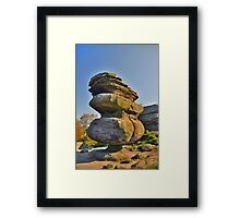 Yorkshire: Brimham Rocks, The Idol Framed Print