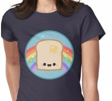 Toast Rainbow Womens Fitted T-Shirt