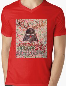Christmas Star Wars Collage Mens V-Neck T-Shirt