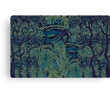 Tolstoy psychedelic wallpaper Canvas Print