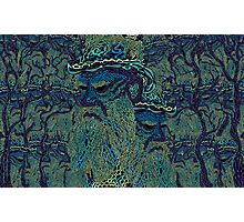 Tolstoy psychedelic wallpaper Photographic Print