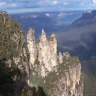 The 3 Sisters - Blue Mountains iPhone case by judygal