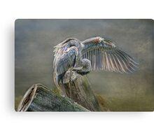 Curtain of Blue Canvas Print