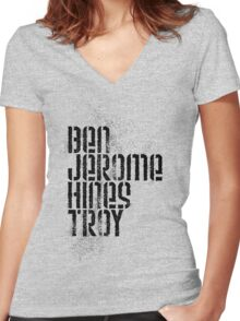 Ben Jerome Hines Troy / Gold Women's Fitted V-Neck T-Shirt